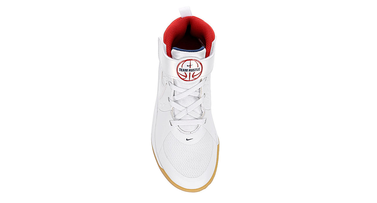NIKE Boys Hustle D9 Basketball Shoe - WHITE
