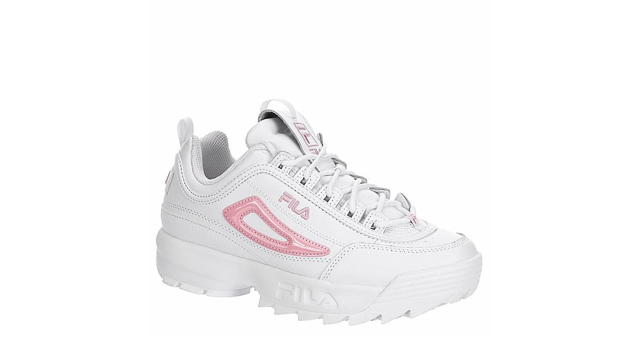 FILA Girls Disruptor Ii Metallic Sneaker - WHITE