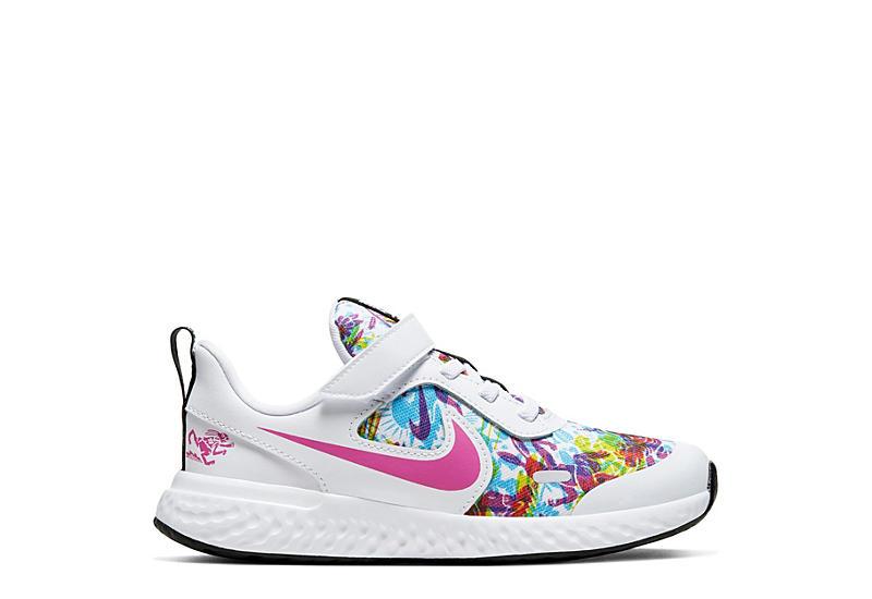 NIKE Girls Revolution 5 Sneaker - WHITE