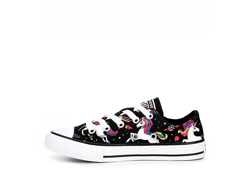 CONVERSE Girls Chuck Taylor All Star Low Unicorn Sneaker - BLACK