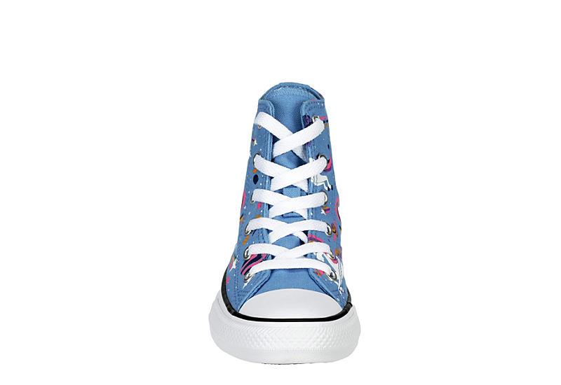 CONVERSE Girls Chuck Taylor All Star High Top Sneaker - PALE BLUE