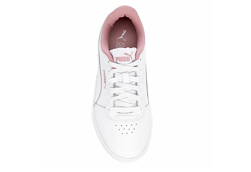PUMA Girls Carina Sneaker - WHITE