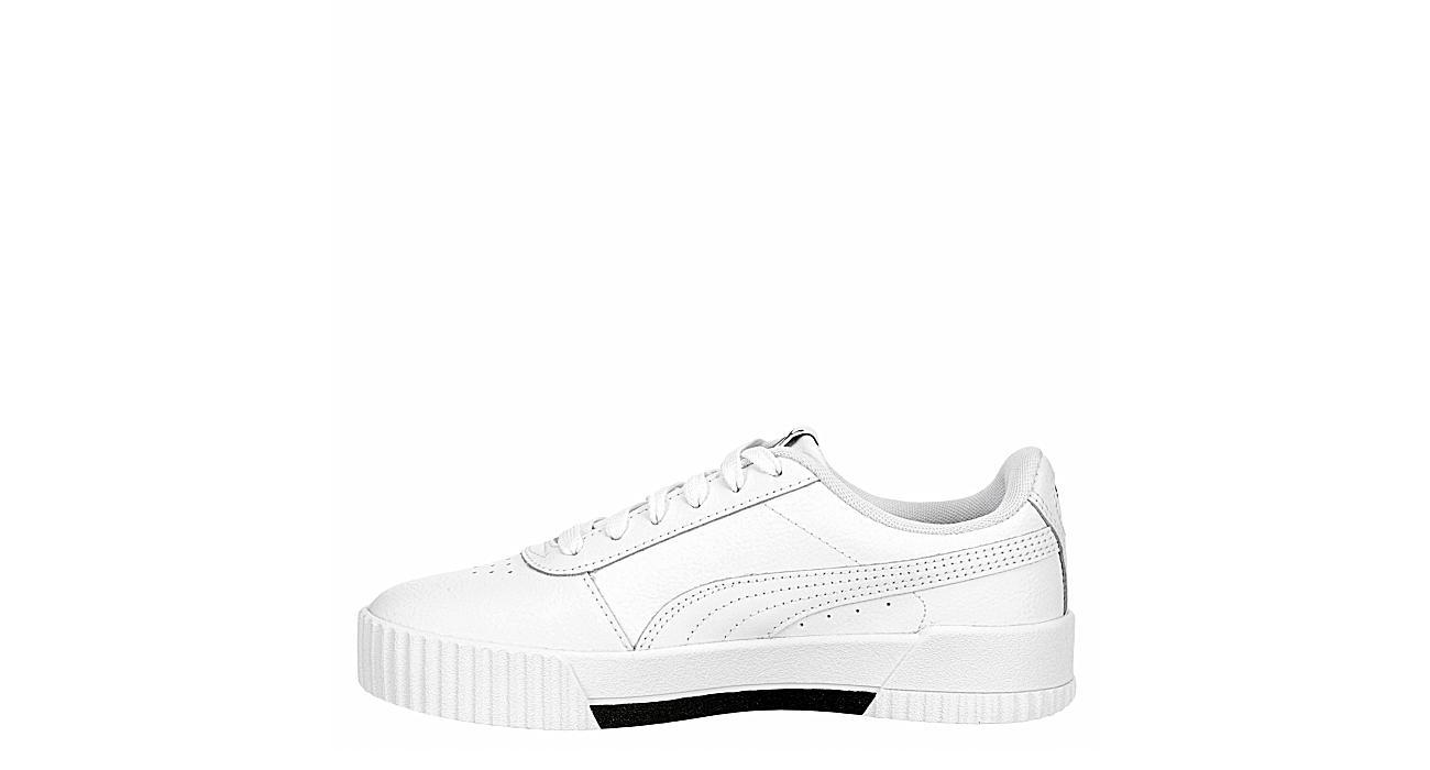 PUMA Girls Carina Sneaker - WHITE