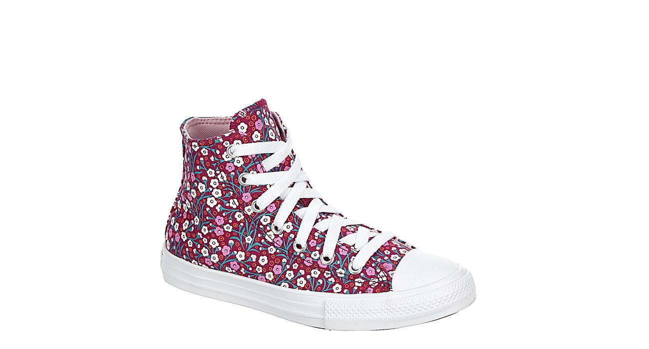 CONVERSE Girls Chuck Taylor All Star High Top Sneaker - BURGUNDY