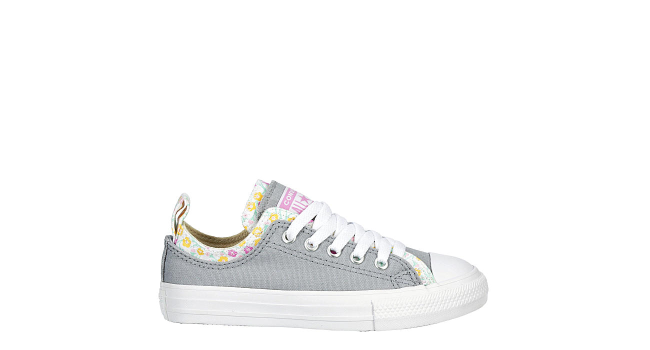 Converse Girls Chuck Taylor All Star Double Upper Sneaer Grey