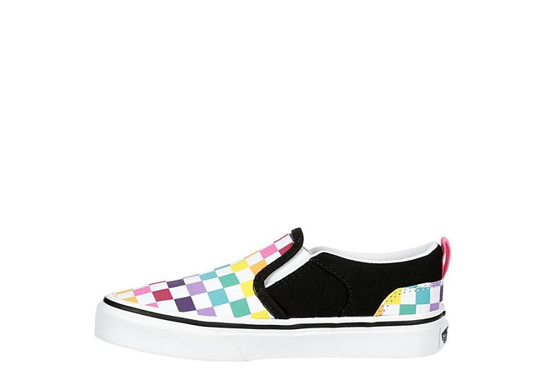 VANS Girls Asher Slip-on Sneaker - WHITE