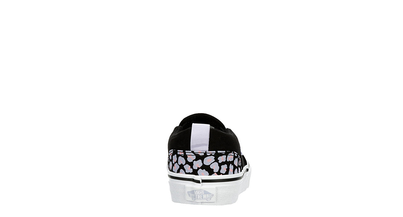 VANS Girls Asher Slip-on Sneaker - BLACK