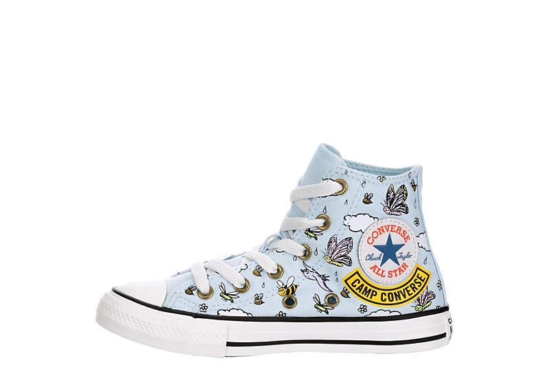 CONVERSE Girls Chuck Taylor All Star High Top Sneaker - BLUE