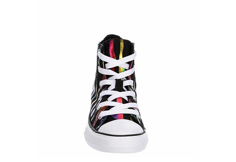 CONVERSE Girls Chuck Taylor All Star High Top Sneaker - BLACK
