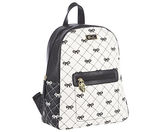 Womens Quilted Pvc Backpack