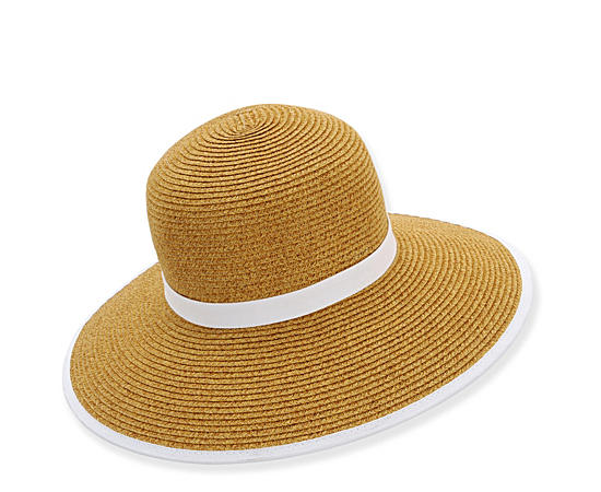 Womens Paper Braid Backless Hat