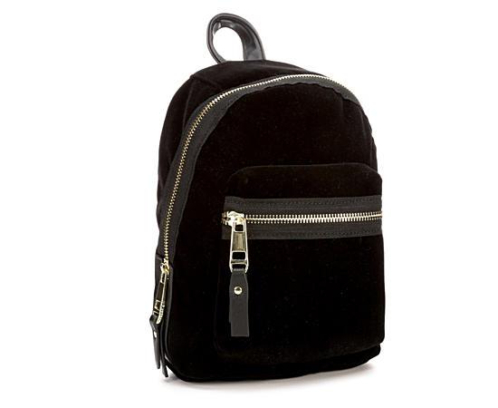 Womens Mini Velvet Backpack