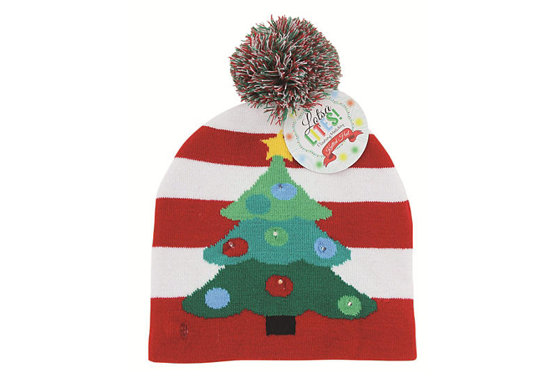 dm merchandising unisex light up christmas hat