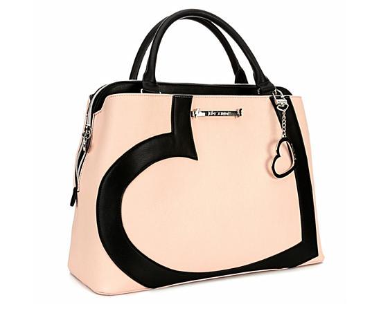 Womens Satchel With Heart Handbag