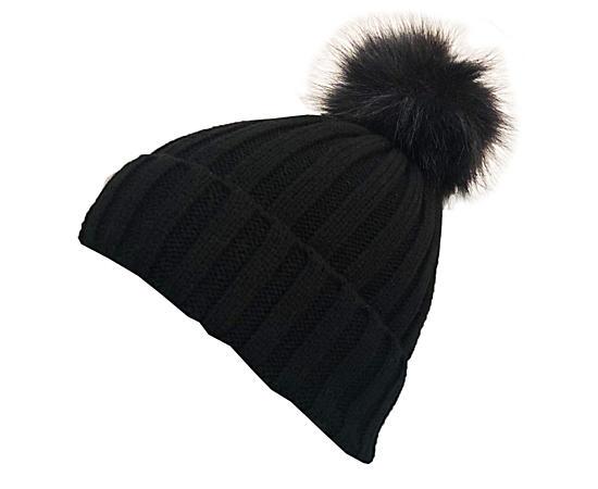 Womens Fur Pom Pom Hats