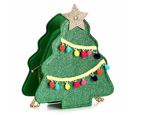 Womens Christmas Tree Crossbody