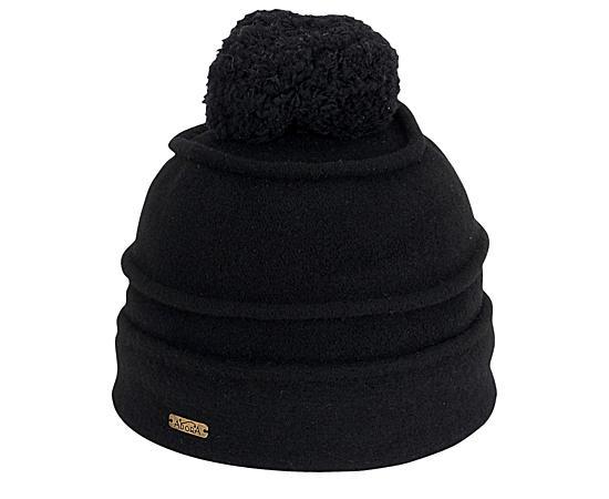 Womens Black Soft Wool Beanie