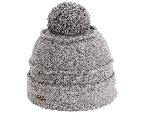 Womens Grey Soft Wool Beanies