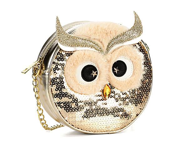 Womens Owl Face Crossbody