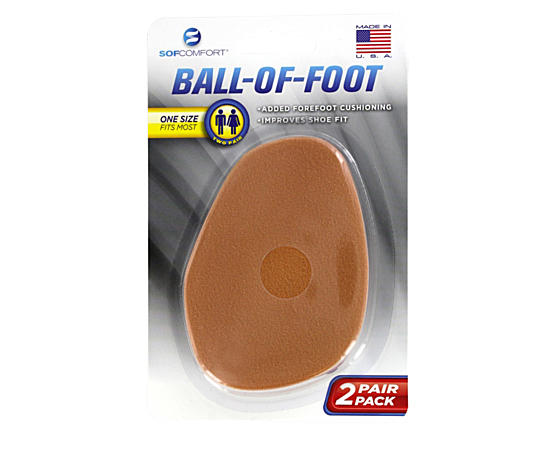 Unisex 2 Pack Ball Of Foot Cushion