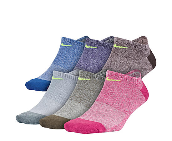Womens 6 Pack No Show Socks