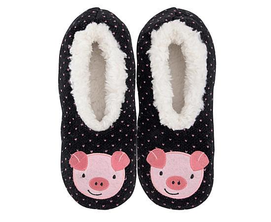 Womens Pig Slipper - Size Lg