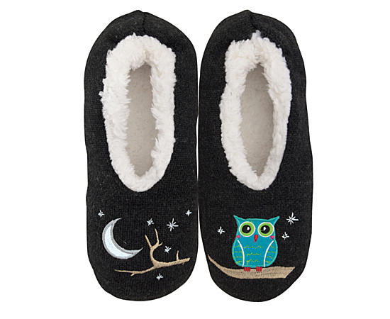Womens Owl Slipper - Size Sm
