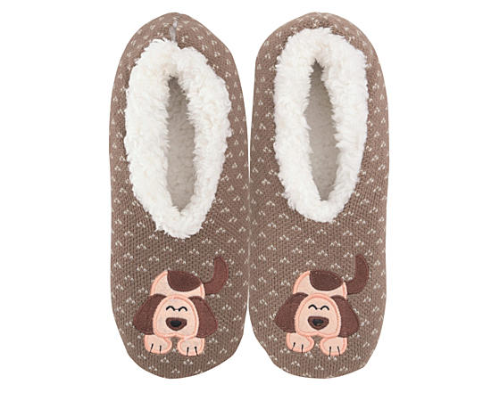 Womens Dog  Slipper - Size Sm
