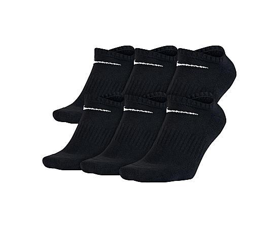 Mens 6 Pack Mens No Show Socks