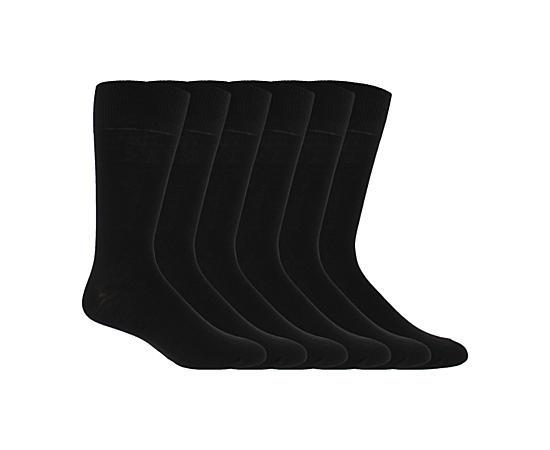 Mens 6 Pack Flat Dress Socks