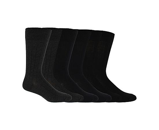 Mens 6 Pack Dress Socks