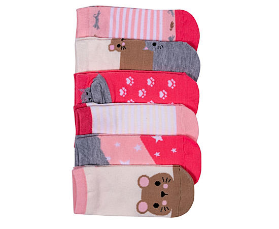 Girls 6 Pack No Show Size 7-9