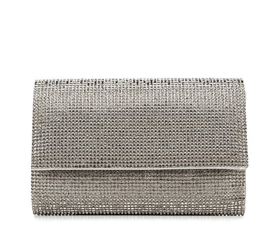 Womens Metal Mesh Clutch