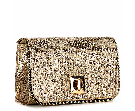Womens Gold Evening Bag
