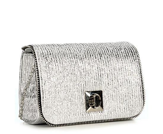 Womens Silver Evening Bag