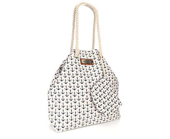 Womens Gap Tote With Cosmetic Bag