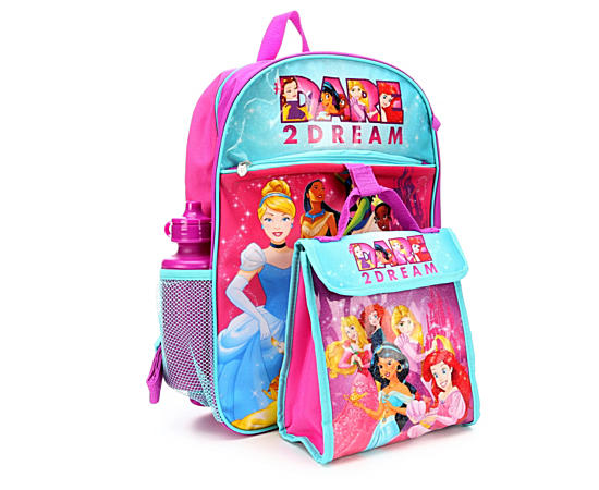 Girls 5 Pc Backpack