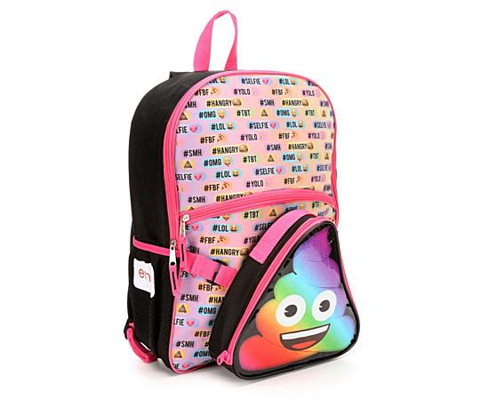 Girls Poo Emoji Backpack