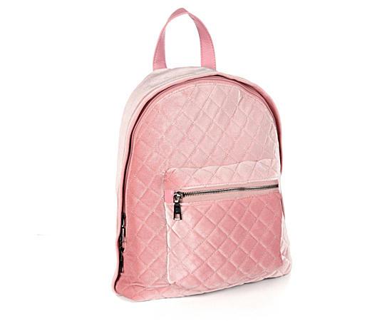 Womens Velvet Backpack