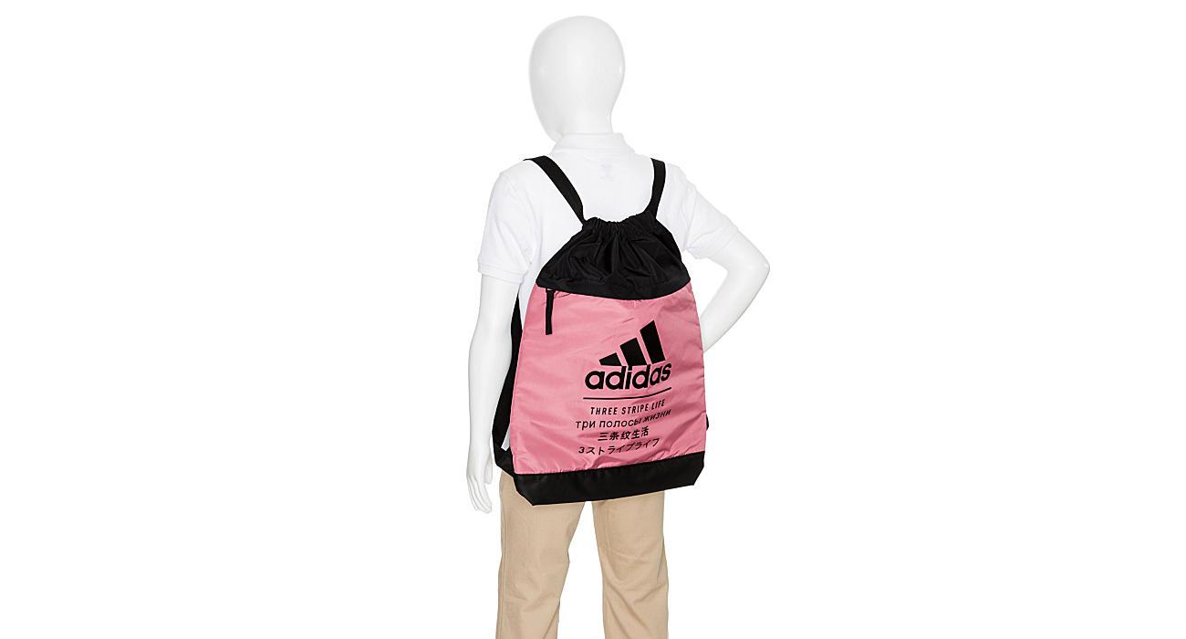 ADIDAS Womens Amplified Blocked Sack Pack - BURGUNDY