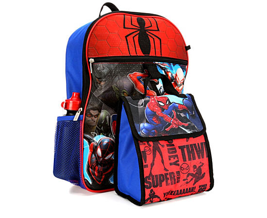 Unisex Spiderman Backpck 5pc Set