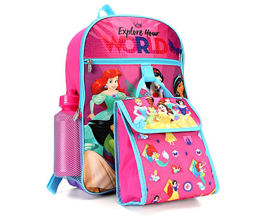 Unisex Princess Backpack 5 Piece Set