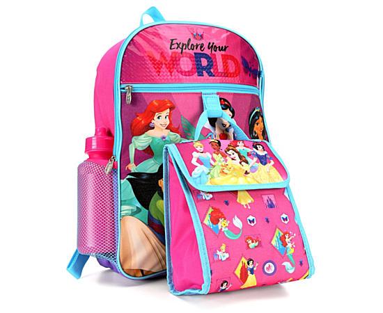 Unisex Princess Backpack 5 Piece Set