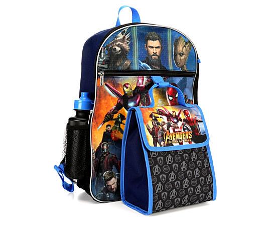 Unisex Avengers Backpack 5 Piece Set