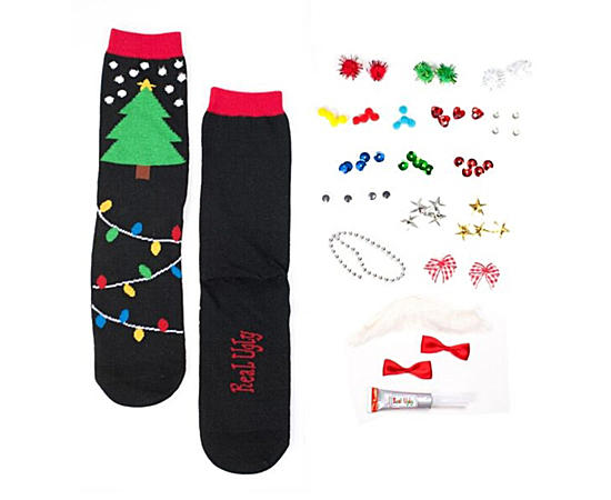 Womens 1 Pack Xmas Tree And Lights Crew