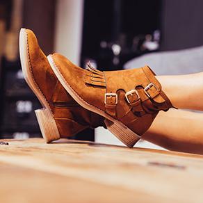 Schnallen Boots