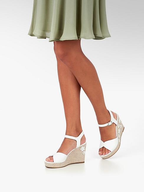 Avantageux Sandalette De Acheter Dans Femmes Blanc Graceland La Ligne Prix En Boutique À 2D9EWIH