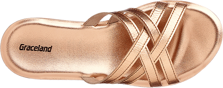 Donna Ciabatta Ciabatta Da Metallizzata Metallizzata Oro Oro GLUVqMzpS
