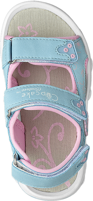 Doppio Velcro Bambina Da Con Azzurro Sandalo Ybm6v7yIgf