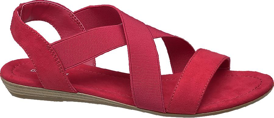 Fasce Donna Rosso Sandalo Incrociate Da Con oWQdECxerB